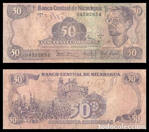 NICARAGUA 50 CORDOBAS 1984 (1985) PIK 140 BC (Numismática - Notafilia - Billetes Extranjeros)