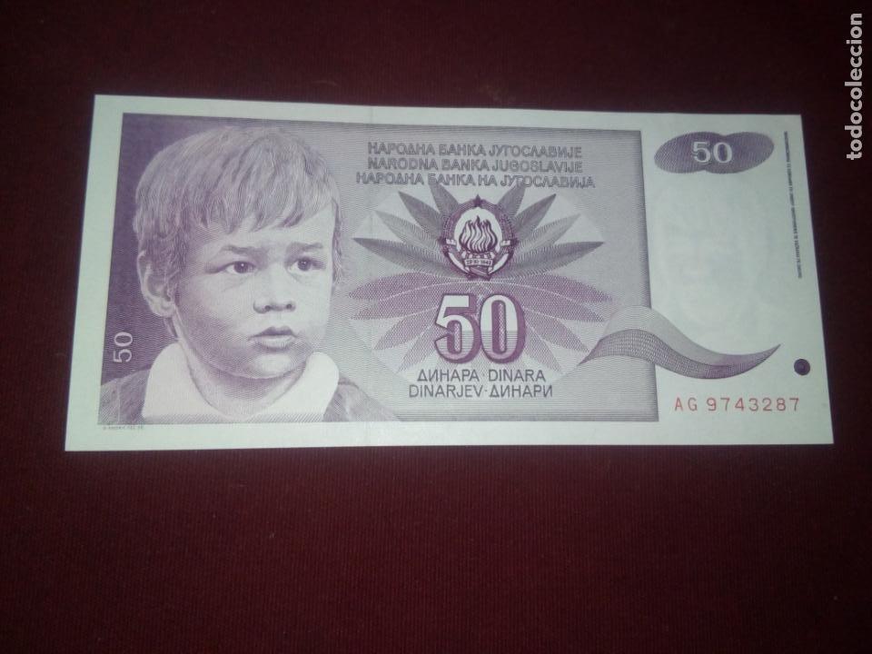 YUGOSLAVIA. 50 DINARA 1990 (Numismática - Notafilia - Billetes Extranjeros)