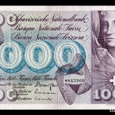 Billetes extranjeros: SUIZA SWITZERLAND 100 FRANCS 1970 PICK 52I SIGN 42 MBC VF. Lote 195370480