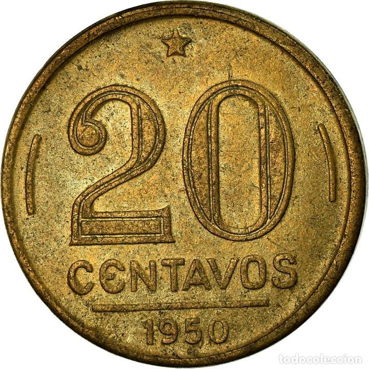 Billetes extranjeros: Moneda, 20 Centavos, 1950, Brasil, MBC - Foto 2 - 195374822