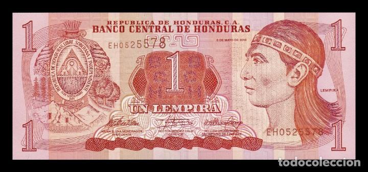 HONDURAS 1 LEMPIRA 2010 PICK 89B SC UNC (Numismática - Notafilia - Billetes Extranjeros)
