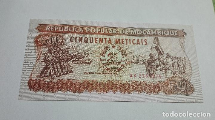 277-BILLETE 50 METICAIS AÑO 1986 DE MOZAMBIQUE, ESTADO PLANCHA (Numismática - Notafilia - Billetes Extranjeros)