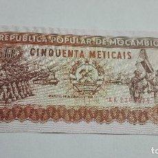 Billetes extranjeros: 277-BILLETE 50 METICAIS AÑO 1986 DE MOZAMBIQUE, ESTADO PLANCHA. Lote 195389376