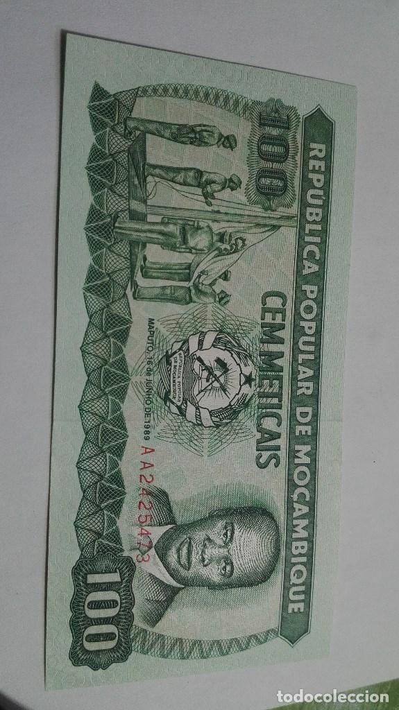 278-BILLETE 100 METICAIS AÑO 1989 DE MOZAMBIQUE, ESTADO PLANCHA (Numismática - Notafilia - Billetes Extranjeros)