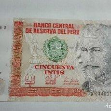 Billetes extranjeros: 312-BILLETE DE 50 INTIS AÑO 1987 DE PERU, ESTADO PLANCHA. Lote 195401846