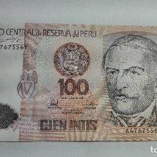 Billetes extranjeros: 313-BILLETE DE 100 INTIS AÑO 1987 DE PERU, ESTADO PLANCHA. Lote 195402111