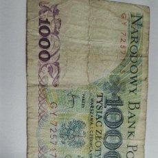 Billetes extranjeros: 317-BILLETE 1000 ZTOTYCH AÑO 1982 DE POLONIA, ESTADO CIRCULADO. Lote 195405796