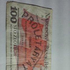 Billetes extranjeros: 319-BILLETE 100 ZTOTYCH AÑO 1988 DE POLONIA, ESTADO CIRCULADO. Lote 195406346