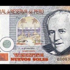 Billetes extranjeros: PERU 20 NUEVOS SOLES 2001 PICK 176A SC UNC. Lote 195413046