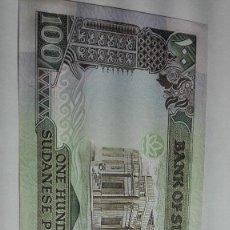 Billetes extranjeros: 335-BILLETE 100 POUNDS AÑO 1989 DEL SUDAN, ESTADO PLANCHA. Lote 195423596