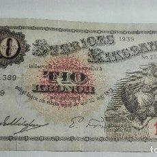 Billetes extranjeros: 336-BILLETE 10 KORONAS AÑO 1939 DE SUECIA, ESTADO BUENO. Lote 195423886