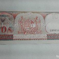 Billetes extranjeros: 337--BILLETE 10 GULDEN AÑO 1963 DE SURINAME, ESTADO PLANCHA. Lote 195424746