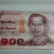 Billetes extranjeros: 341-BILLETE 100 BAHT DE TAILANDIA DESCONOZCO EL AÑO, ESTADO PLANCHA. Lote 195427913