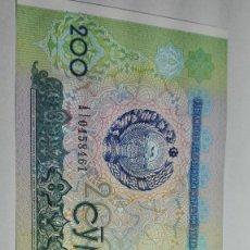 Billetes extranjeros: 376-BILLETE 200 CYM AÑO 1997 DE UZBEKISTAN, ESTADO PLANCHA. Lote 275892863