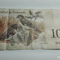 Billetes extranjeros: 384-BILLETE 100 BOLIVARES DEL AÑO 2012 DE VENEZUELA, ESTADO PLANCHA . Lote 195436952