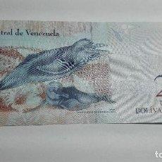 Billetes extranjeros: 385-BILLETE 2 BOLIVARES DEL AÑO 2013 DE VENEZUELA, ESTADO PLANCHA . Lote 195437067