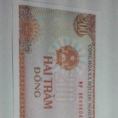 Billetes extranjeros: 386-BILLETE 200 DONG AÑO 1987 DE VIETNAN, ESTADO PLANCHA. Lote 195437176