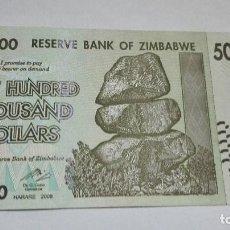 Billetes extranjeros: 407-BILLETE 500000 DOLARES AÑO 2008 ZIMBAWEA, ESTADO PLANCHA. Lote 195451796