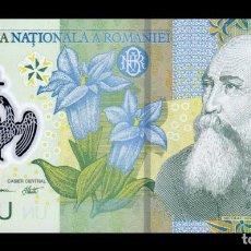 Billetes extranjeros: RUMANIA ROMANIA 1 LEU 2005 (2008) PICK 117D POLÍMERO SC UNC. Lote 195453212