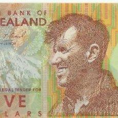 Billetes extranjeros: NUEVA ZELANDA. 5 DÓLARES 1999. UNC. Lote 195484446