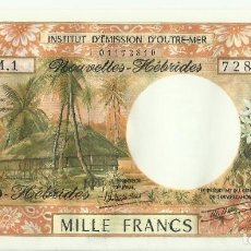 Billetes extranjeros: NUEVAS HÉBRIDAS 2008. 1000 FRANCOS. UNC. Lote 195484622