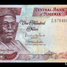 Billetes extranjeros: NIGERIA 100 NAIRA 2011 PICK 28K SC UNC. Lote 195490580
