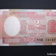 Billetes extranjeros: INDIA 2 RUPEES 1977. Lote 195491486