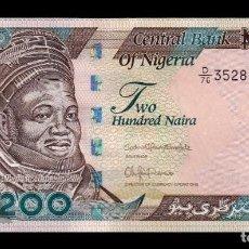 Billetes extranjeros: NIGERIA 200 NAIRA 2017 PICK 29Q SC UNC. Lote 195494301