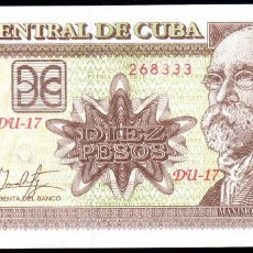 Billetes extranjeros: CUBA 10 PESOS 2017 - SIN CIRCULAR. Lote 195496391