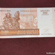 Billetes extranjeros: MADAGASCAR 500 ARIARY (2500 FRANCOS) 2004 (SC). Lote 195510041
