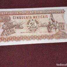 Billetes extranjeros: MOZAMBIQUE - 50 METICAIS 1983 SC UNC. Lote 195510152