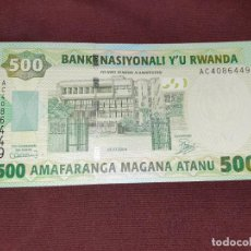 Billetes extranjeros: RWANDA : 500 FRANCS 2004. SC.UNC. Lote 195510557