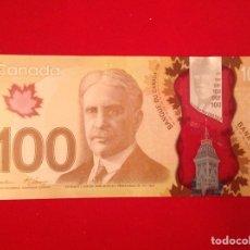 Billetes extranjeros: CANADÁ BILLETE 100 DOLLAR 2011 PLANCHA SIN CIRCULAR. Lote 195512963