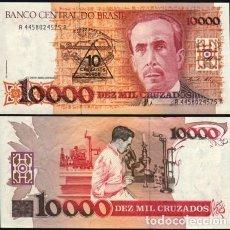 Billetes extranjeros: BRASIL 10000 CRUZADOS 1989. RESELLO 10 CRUZADOS NUEVOS. 1989. PICK 218A. SIN CIRCULAR. Lote 195516701