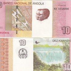Billetes extranjeros: L112 BILLETE ANGOLA 10 KWANZAS 2012 SIN CIRCULAR. Lote 195551051