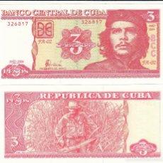 Billetes extranjeros: L430 BILLETE CUBA 3 PESOS 2004 SIN CIRCULAR. Lote 195551771