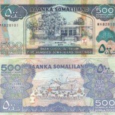 Billetes extranjeros: L431 BILLETE SOMALIA 500 500 SHILLING 2011 SIN CIRCULAR. Lote 195551815