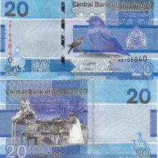 Billetes extranjeros: L434 BILLETE GAMBIA 20 DALASIS NEW 2019 SIN CIRCULAR . Lote 195551851