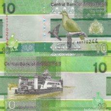 Billetes extranjeros: L436 BILLETE GAMBIA 10 DALASIS NEW 2019 SIN CIRCULAR. Lote 195551860