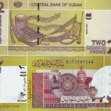 Billetes extranjeros: L448 BILLETE SUDAN 2 POUNDS 2011 SIN CIRCULAR . Lote 195551941