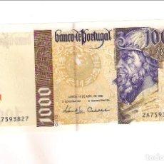 Billetes extranjeros: BILLETE DE 1.000 ESCUDOS DE PORTUGAL DE 1996. SIN CIRCULAR. WORLD PAPER MONEY-188A (BE505). Lote 195878455