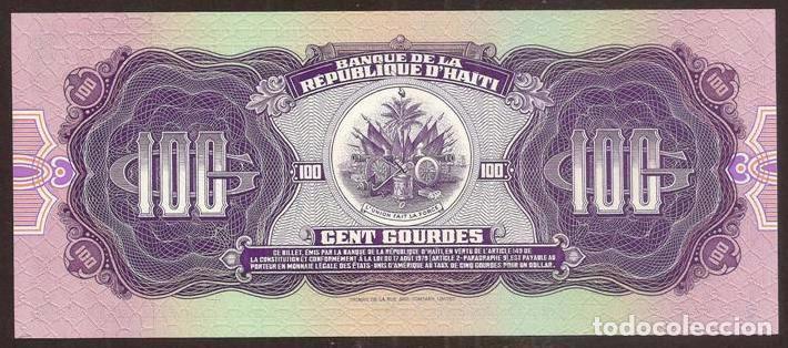 Billetes extranjeros: HAITI. 100 gourdes 1986. Pick 250. S/C. - Foto 2 - 195914237