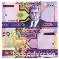 Billetes extranjeros: TURKMENISTAN 50 MANAT 2005 P-17 UNC. Lote 217547858