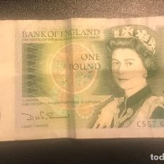 Billetes extranjeros: BRITISH ONE POUND NOTE. Lote 196211643