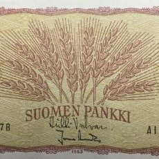 Notas Internacionais: FINLANDIA 1 MARKKA 1963 PICK 98A(41) . Lote 197237346
