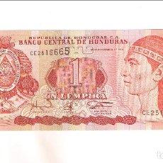Billetes extranjeros: BILLETE DE 1 LEMPIRA DE HONDURAS DE 1997. SIN CIRCULAR. WORLD PAPER MONEY-79A (BE208). Lote 197321283