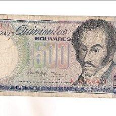 Billetes extranjeros: BILLETE DE 500 BOLÍVARES DE VENEZUELA DE 1995. BC. WORLD PAPER MONEY-67E (BE459). Lote 197331763