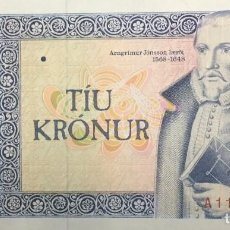 Notas Internacionais: ISLANDIA 10 KRÓNUR 1961 PICK 48A(3) . Lote 197359576