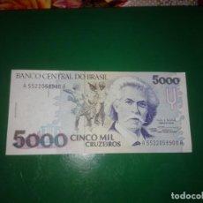 Banconote internazionali: BILLETE 5000 CRUZEIROS SC. Lote 198062060