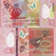 Billetes extranjeros: SÃO TOMÉ AND PRÍNCIPE, 10 DOBRAS, P71, 2016 (2018), PREFIX AB, UNC. Lote 198073470